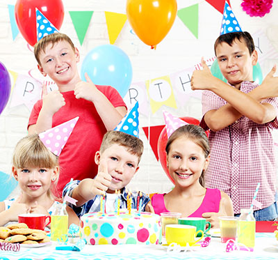 Happy children at birthday party