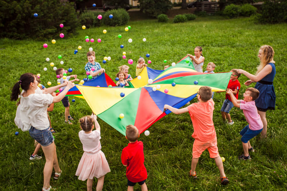Kids Playing Outdoor
