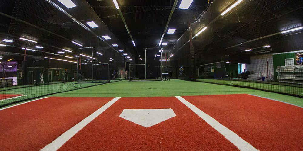 Indoor baseball training center